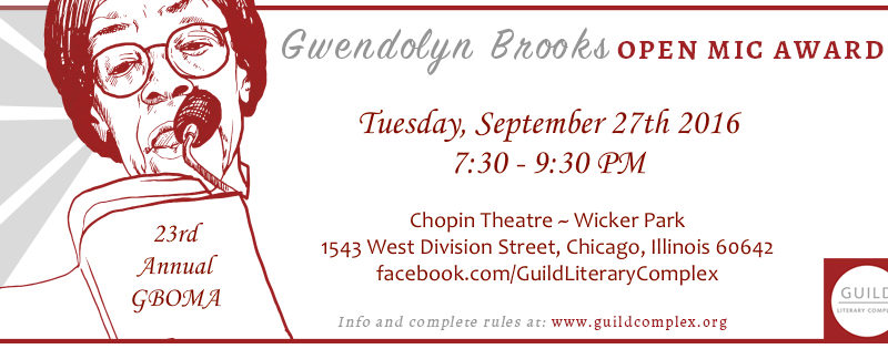 23rd Annual Gwendolyn Brooks Open Mic Awards, Finalists Announced