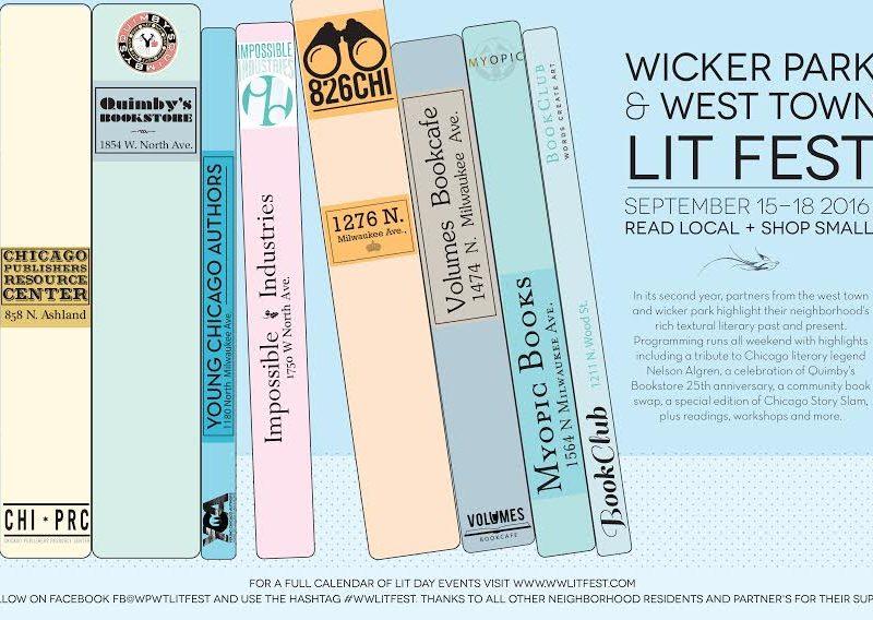 Wicker Park and West Town Lit Fest Sept 15-18