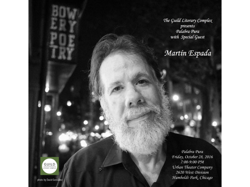 The Guild Hosts a Special Palabra Pura with Guest Martín Espada
