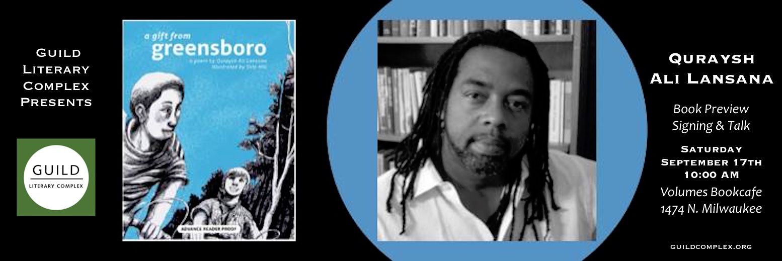 Quraysh Ali Lansana at Volumes Bookscafe Saturday!