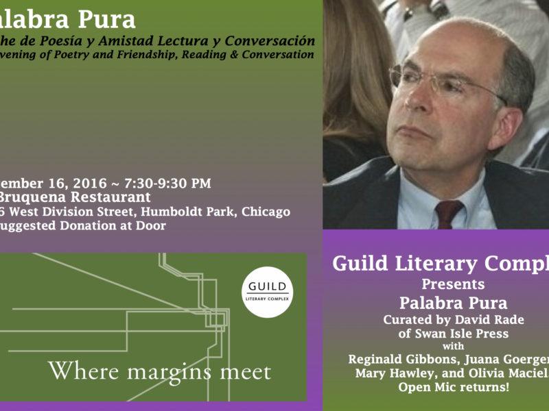 Palabra Pura with David Rade, Noche de Poesía y Amistad Lectura y Conversación