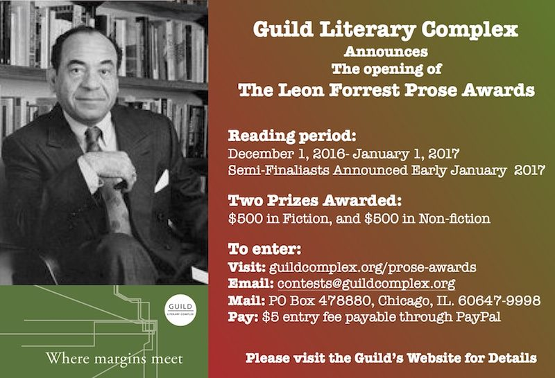 Leon Forrest Prose Awards for Fiction and Non-Fiction Submissions Open